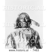 Historical Photo of Native American Man, Chief Revenger 1900 - Black and White by Al