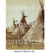 Historical Photo of Nez Perce Indian Tipis 1871 - Sepia by Al