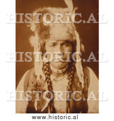Historical Photo of Nez Perce with Furcap 1904 - Sepia by Al