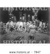 Historical Photo of Nunhlim Ceremony 1914 - Black and White by Al