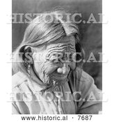 Historical Photo of Old Arapaho 1910 - Black and White by Al
