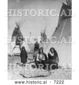 December 13th, 2013: Historical Photo of One Bull and Black Praire Chicken, Sioux Indians 1882 - Black and White by Al