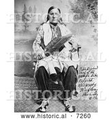 Historical Photo of Osage Indian Chief, Peter Bighart 1909 - Black and White by Al