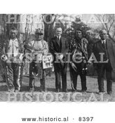 Historical Photo of Osage Indians - Black and White Version by Al