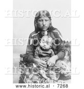 Historical Photo of Osage Mother and Child 1906 - Black and White by Al