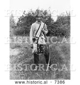 December 13th, 2013: Historical Photo of Osage Native American Called Os Ko Bos 1908 - Black and White by Al