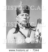 Historical Photo of Osage Native American Chief Called Bacon Rind 1913 - Black and White by Al