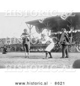 Historical Photo of Otis Clymer Batting and Red Kleinow Catching During a Baseball Game 1909 - Black and White Version by Al