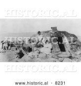 Historical Photo of Paiute Indian Family 1906 - Black and White by Al
