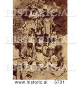 December 16th, 2013: Historical Photo of Paiute Native Americans 1873 - Sepia by Al