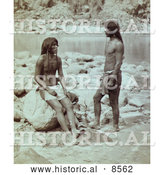 Historical Photo of Panambona and Mitiwara, Mohaves 1871 by Al