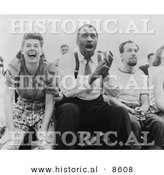 Historical Photo of Paul Robeson and Jose Ferrer Watching a Baseball Game - Black and White Version by Al