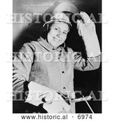 December 13th, 2013: Historical Photo of Petrina Moore, Cherokee Indian Woman 1943 - Black and White by Al