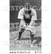 Historical Photo of Pittsburgh Pirates Baseball Team's Shortstop, Honus Wagner, 1909 - Black and White Version by Al