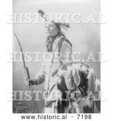 December 13th, 2013: Historical Photo of Plenty Wann Did, Sioux Indian 1900 - Black and White by Al