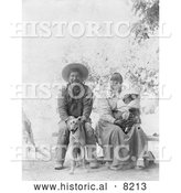 Historical Photo of Pomo Indian Family 1905 - Black and White by Al