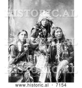 December 13th, 2013: Historical Photo of Poor Elk, Shout For, Eagle Shirt, Sioux Indians 1899 - Black and White by Al