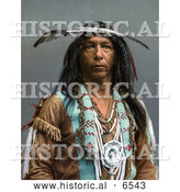 Historical Photo of Portrait of Arrowmaker, a Native American Ojibwa Indian, 1903 by Al
