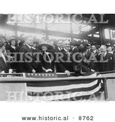 Historical Photo of President Herbert Hoover at a Baseball Game - Black and White Version by Al