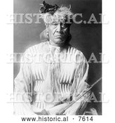 Historical Photo of Red Whip, an Atsina Man 1913 - Black and White by Al