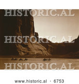Historical Photo of Riding Through Canyon De Chelly 1904 - Sepia by Al