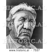 Historical Photo of Rueben Taylor or Isotofhuts, Cheyenne Indian Man 1927 - Black and White by Al