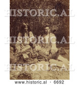Historical Photo of Sai'-ar and Family 1874 - Sepia by Al