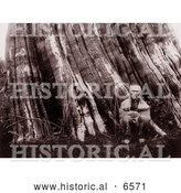 Historical Photo of Sasquatch Indian Man 1899 by Al