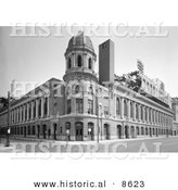 Historical Photo of Shibe Park Stadium in Philadelphia, Pennsylvania - Black and White Version by Al