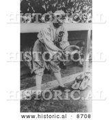 Historical Photo of Shoeless Joe Jackson, Player of the Chicago White Sox Baseball Team, 1919 - Black and White Version by Al