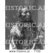 December 13th, 2013: Historical Photo of Shot in the Eye, Sioux Man 1899 - Black and White by Al