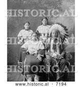 December 13th, 2013: Historical Photo of Sioux Family 1910 - Black and White by Al
