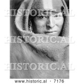 December 13th, 2013: Historical Photo of Sioux Indian, Bears One 1900 - Black and White by Al