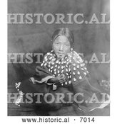 Historical Photo of Sioux Indian Child 1905 - Black and White by Al