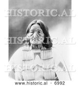 December 13th, 2013: Historical Photo of Sioux Indian, Elk Woman 1900 - Black and White by Al