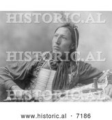 December 13th, 2013: Historical Photo of Sioux Indian Holding a Peace Pipe 1899 - Black and White by Al