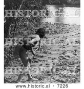 Historical Photo of Sioux Indian Hunting 1908 - Black and White by Al