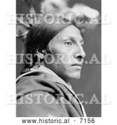 December 13th, 2013: Historical Photo of Sioux Indian Man, Amos Two Bulls 1900 - Black and White by Al