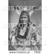 December 13th, 2013: Historical Photo of Sioux Indian Man, Rushing Eagle - Black and White by Al
