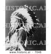 Historical Photo of Sioux Indian Named Afraid of Eagle 1898 - Black and White by Al
