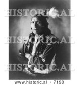 December 13th, 2013: Historical Photo of Sioux Indian Named Blue Horse 1908 - Black and White by Al
