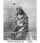 December 13th, 2013: Historical Photo of Sioux Indian Named Bone Necklace 1899 - Black and White by Al