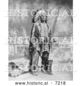 December 13th, 2013: Historical Photo of Sioux Indian Named Broken Arm 1899 - Black and White by Al