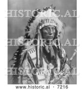 December 13th, 2013: Historical Photo of Sioux Indian Named Jack Red Cloud 1899 - Black and White by Al