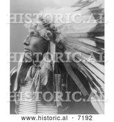 December 13th, 2013: Historical Photo of Sioux Indian Named James Lone Elk 1899 - Black and White by Al