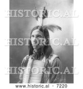 December 13th, 2013: Historical Photo of Sioux Indian Named Little Eagle 1900 - Black and White by Al