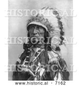 December 13th, 2013: Historical Photo of Sioux Indian Named Lone Bear 1899 - Black and White by Al