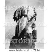 December 13th, 2013: Historical Photo of Sioux Indian Named Plenty Holes 1900 - Black and White by Al