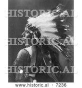 Historical Photo of Sioux Indian Named Running Horse 1899 - Black and White by Al