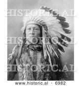 December 13th, 2013: Historical Photo of Sioux Indian Named Stampede 1900 - Black and White by Al